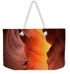 Weekender Tote Bag featuring the photograph Lady Of The Flame by Darren White
