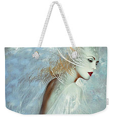 Lady Of The White Feathers Weekender Tote Bag