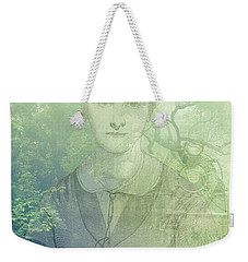 Lady On The Tracks Weekender Tote Bag