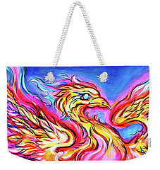 Lady Phoenix  Weekender Tote Bag by Nada Meeks