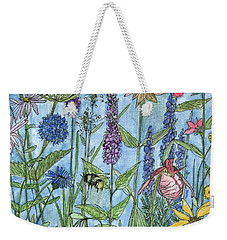 Lady Slipper In My Garden  Weekender Tote Bag by Laurie Rohner