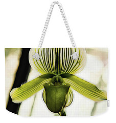 Weekender Tote Bag featuring the photograph Lady Slipper by Jessica Manelis