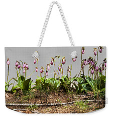 Weekender Tote Bag featuring the digital art Lady Slippers by Daniel Hebard