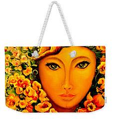 Lady Sring Weekender Tote Bag by Yolanda Rodriguez