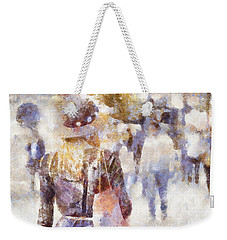 Lady Walking Weekender Tote Bag by Shirley Stalter