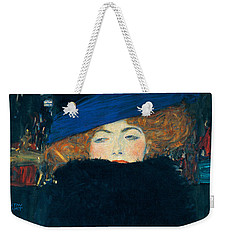 Lady With A Hat And A Feather Boa Weekender Tote Bag by Gustav Klimt