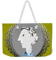 Lady With Blue Scarf Weekender Tote Bag