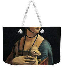 Lady With Ermine - Pastel Weekender Tote Bag