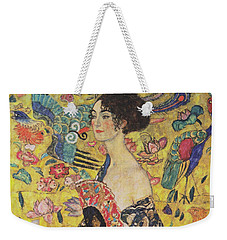 Lady With Fan Weekender Tote Bag