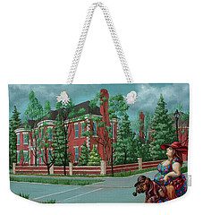Lady With The Dog Weekender Tote Bag