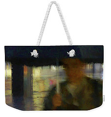 Weekender Tote Bag featuring the photograph Lady With Umbrella by LemonArt Photography