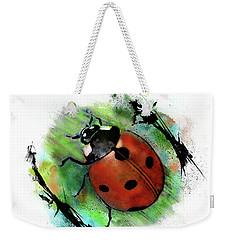 Ladybug Drawing Weekender Tote Bag