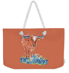 Ladybug In The Bluebonnets Lh002 By Kmcelwaine Weekender Tote Bag