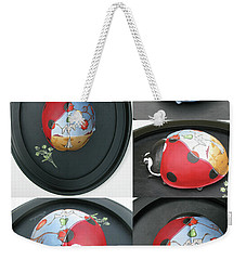 Ladybug On The Half Shell Weekender Tote Bag