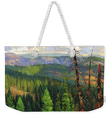Weekender Tote Bag featuring the painting Ladycamp by Steve Henderson