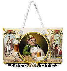Lager Beer Stock Advertising Poster 1879 Weekender Tote Bag