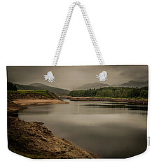 Weekender Tote Bag featuring the photograph Laggan Dam by Ryan Photography