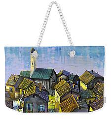 Lago   Caldonazza Weekender Tote Bag by Mikhail Zarovny