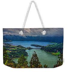 Lagoa Verde E Lagoa Azul Weekender Tote Bag