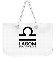 Lagom - Balance Weekender Tote Bag