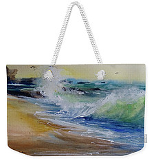 Laguna Beach Wave South View Weekender Tote Bag by Sandra Strohschein