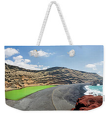 Weekender Tote Bag featuring the photograph Laguna Verde by Delphimages Photo Creations