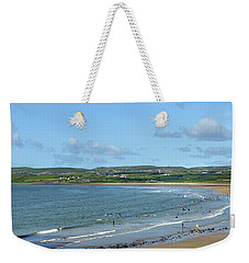 Weekender Tote Bag featuring the photograph Lahinch Beach by Terence Davis