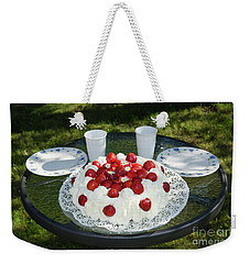 Weekender Tote Bag featuring the photograph Laid Summer Table by Kennerth and Birgitta Kullman