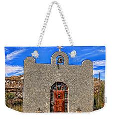 Lajitas Chapel Painted Weekender Tote Bag