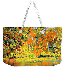 Lake Aerofloat Fall Foliage Weekender Tote Bag