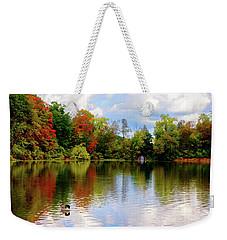 Lake At Forest Park Weekender Tote Bag