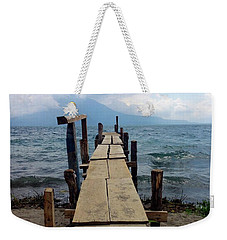 Lake Atitlan Dock Weekender Tote Bag