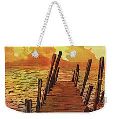 Lake Atitlan- Guatemala Weekender Tote Bag by Ryan Fox