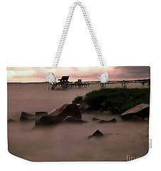 Lake Balaton Painting Weekender Tote Bag by Odon Czintos
