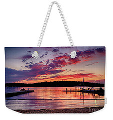 Lake Beach Sunset Weekender Tote Bag