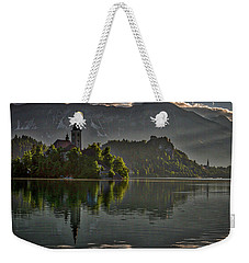 Weekender Tote Bag featuring the photograph Lake Bled Morning #3 - Slovenia by Stuart Litoff