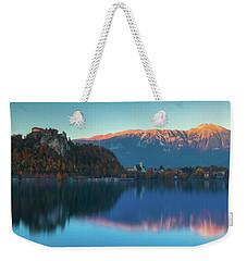 Lake Bled Panorama Weekender Tote Bag