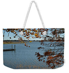Weekender Tote Bag featuring the photograph Lake Bonny Autumn by Carol  Bradley