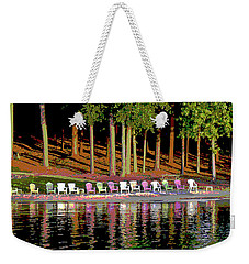 Lake Chairs Weekender Tote Bag