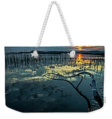 Weekender Tote Bag featuring the photograph Lake Champlain Vermont Sunrise - 1 Landscape by James Aiken
