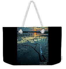 Weekender Tote Bag featuring the photograph Lake Champlain Vermont Sunrise - 1 Portrait by James Aiken