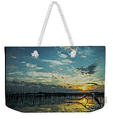 Weekender Tote Bag featuring the photograph Lake Champlain Vermont Sunrise - 2 Landscape by James Aiken