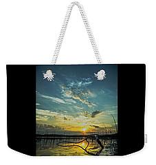 Weekender Tote Bag featuring the photograph Lake Champlain Vermont Sunrise - 2 Portrait by James Aiken