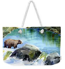 Lake Clementine Falls Bear Weekender Tote Bag