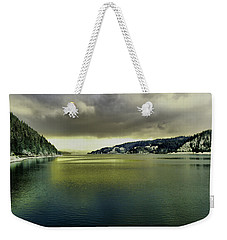 Weekender Tote Bag featuring the photograph Lake Coeur D' Alene by Jeff Swan