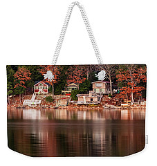 Lake Cottages Reflections Weekender Tote Bag