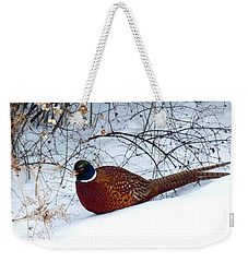 Weekender Tote Bag featuring the photograph Lake Country Pheasant by Will Borden
