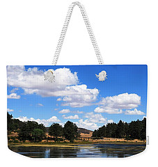 Lake Cuyamac Landscape And Clouds Weekender Tote Bag