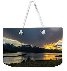 Lake Dillon And Gore Range Sunset Weekender Tote Bag