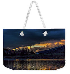 Lake Dillon Stormy Sunset Weekender Tote Bag